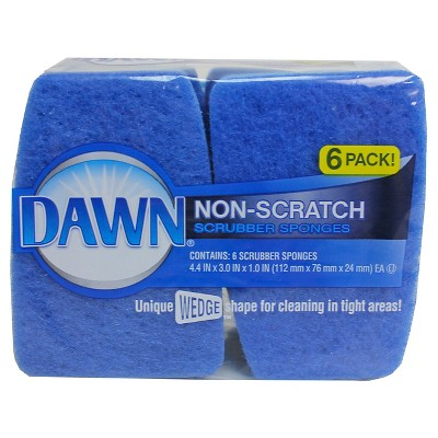 Dawn Non-Scratch Cellulose Sponges 6 pack