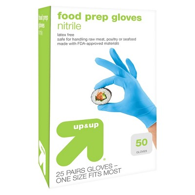 Latex Free Food Prep Gloves - 50 Count - up & up™
