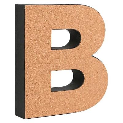"3D Cork Letter 9"" B"