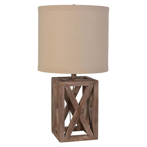 Oversized Wood Assembled Table Lamp