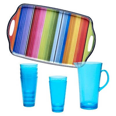 Certified International Serape Melamine 8 Piece Beverage Set