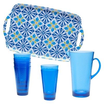 Certified International Mediterranean - Melamine 8 Piece Beverage Set
