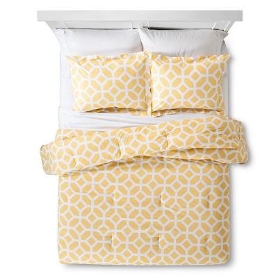 Helix Modern Geo Comforter Set - Yellow (King)