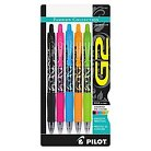 Pilot® G2 Fashion Premium Retractable Gel Ink Pen, Assorted Ink/Barrels, 0.7mm, 5/Pack