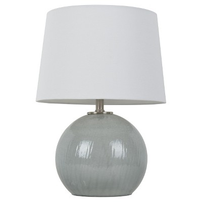 Gray Glass Globe Table Lamp - Threshold™