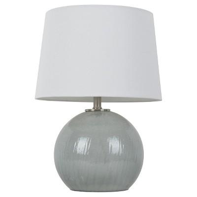Gray Glass Globe Table Lamp - Threshold