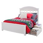 Safi Storage Bed with Headboard - Eternal White (Full)