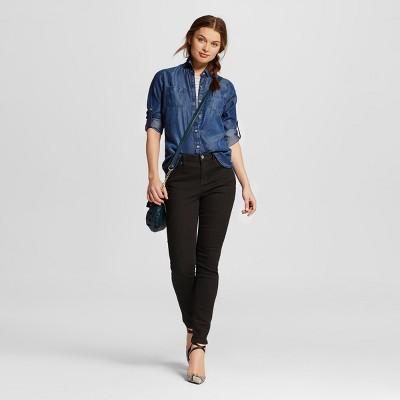 Female Jeans Mossimo Black Black 18 SHORT
