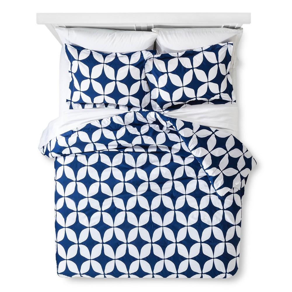 Varick Modern Geo Comforter Set - Indigo (King)