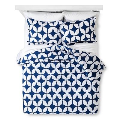 Varick Modern Geo Comforter Set - Indigo (Full/Queen)