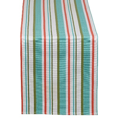 "Garden Stripe Table Runner - Aqua (13""x72"")"