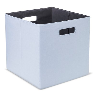 "Fabric Cube Storage Bin 13"" - Light Blue - Threshold™"