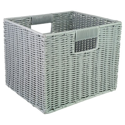 Woven Plastic Storage Cube - Grey - Room Essentials™