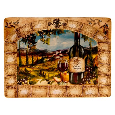 "Certified International Tuscan View Rectangular Platter (16"" x 12"")"