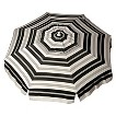 Parasol 6' Italian Aluminum Collar Tilt Beach Umbrella - Black Stripe