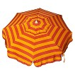 Parasol 6' Italian Aluminum Collar Tilt Beach Umbrella - Pink/Orange Stripe