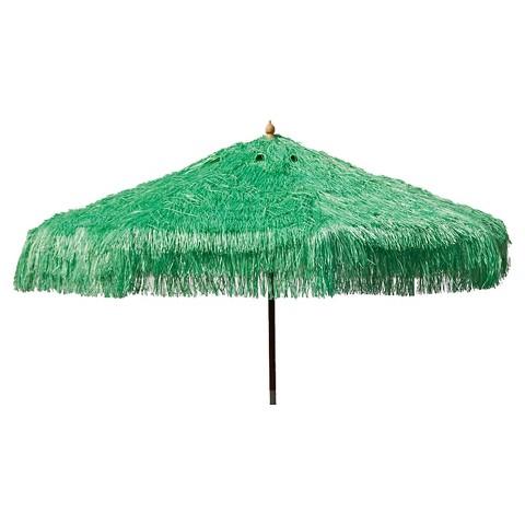 parasol 9 palapa tiki wood collar tilt patio um target