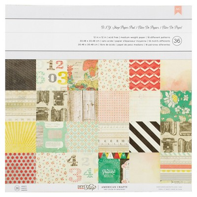 American Crafts Crate DIY Paper Pad-12X12-36 Sheets