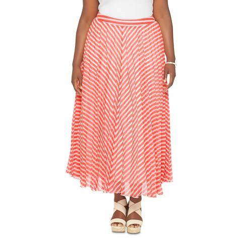 s plus size chevron pleated maxi skirt wd 183 target