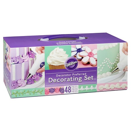 Wilton  48 Piece Decorator Preferred Cake Decorating Set ...