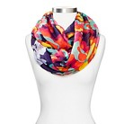Women's Floral Print Infinity Scarf - Multi Color