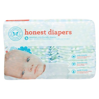 Honest Diapers Blue Plaid- Size NB (40 Count)