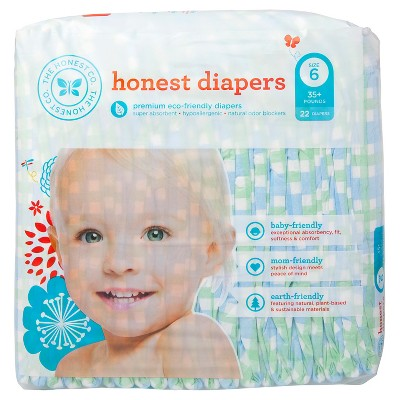 Honest Diapers Blue Plaid- Size 6 (22 Count)
