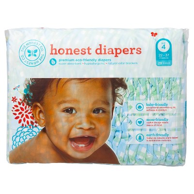 Honest Diapers Blue Gingham - Size 4 (29 Count)