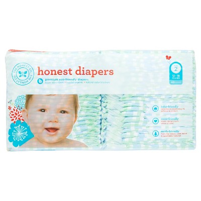 Honest Company Diapers Blue Gingham - Size 2 (40 Count)