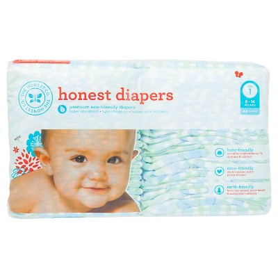 Honest Company Diapers Blue Gingham - Size 1 (44 Count)