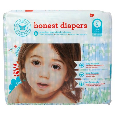 Honest Diapers Blue Gingham - Size 5 (25 Count)