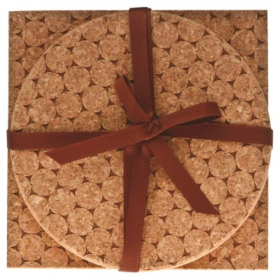 Thirstystone Cork Dot 2 Piece Trivet Set