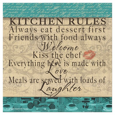 Thirstystone Kitchen Rules With Love Occasions Trivet