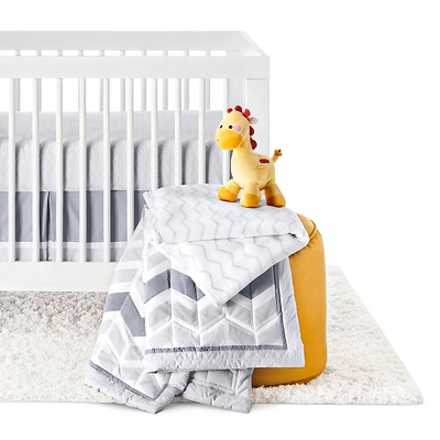 Circo™ 4pc Crib Bedding Set - Grey Chevron