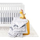 Circo™ 4pc Crib Bedding Set - Grey Chevron