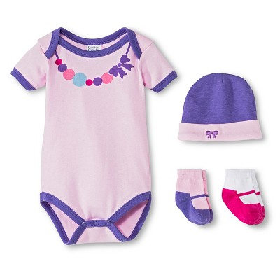 Luvable Friends™ Newborn Girls' Dress Me Up Set - Purple 0-3 M