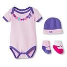 Luvable Friends™ Newborn Girls' Dress Me Up Set - Purple 0-3 M