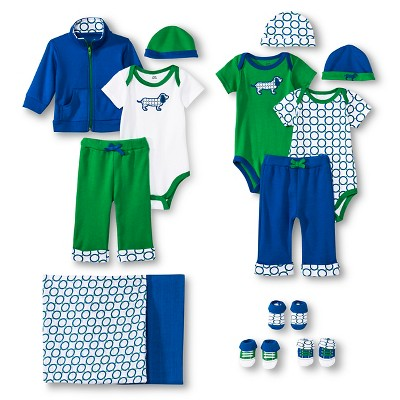 Yoga Sprout™ Newborn Boys' Collection Set - Blue/Green 3-6 M
