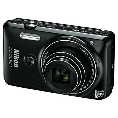 Nikon Coolpix S6900 16MP Digital Camera with 12X Optical Zoom - Black