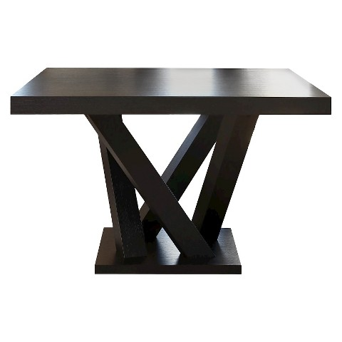 Essex Square Dining Table Wood Espresso Abbyso Target