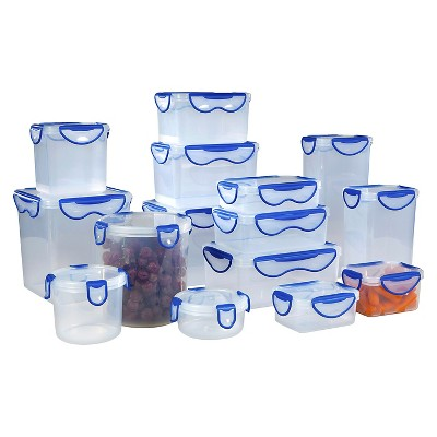 Hefty Clip Fresh Food Storage Container - Clear/Blue