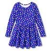 Girls' Polka Dot Print Dress - Blue