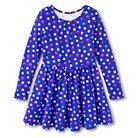 Girls' Polka Dot Print Dress - Blue L Plus