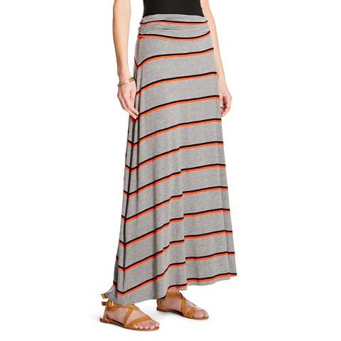 s striped maxi skirt merona target