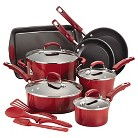 Rachael Ray Porcelain Non-Stick 14-piece Cookware Set - Red