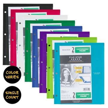 organization  school  amp  office supplies   targetfive star® plastic folder   pocket   multicolor