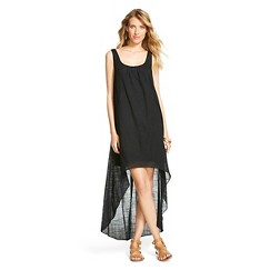 Women's Gauze Maxi Dress - Ebony XS