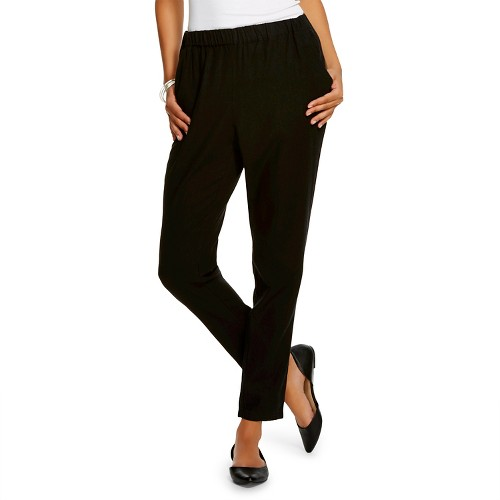 Awesome PURO LINO Black TieFront Linen Ankle Pants  Women  Zulily