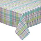 """Spring Fling Plaid Tablecloth - Multi-Colored (52""""x52"""")"""