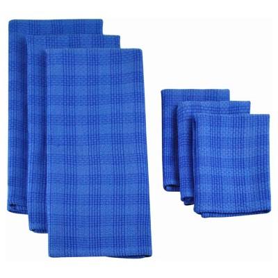 Plaid Heavyweight Dishtowel Set - Blue